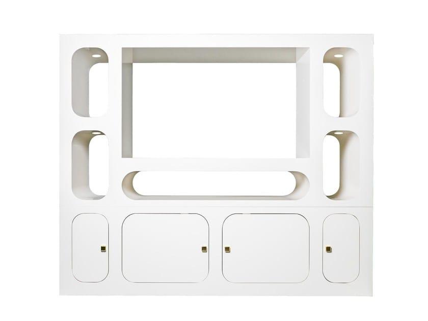 Aluminium TV cabinet CAROSELLO by altreforme