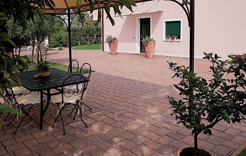 Concrete paving block Cassia by Micheletto