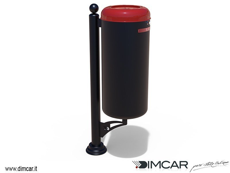 Litter bin with lid for waste sorting Cestino Ecocity per raccolta T-F by DIMCAR