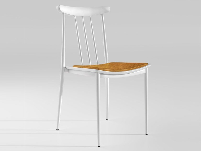 Wooden chair with integrated cushion ROME | Chair by Emotional Projects