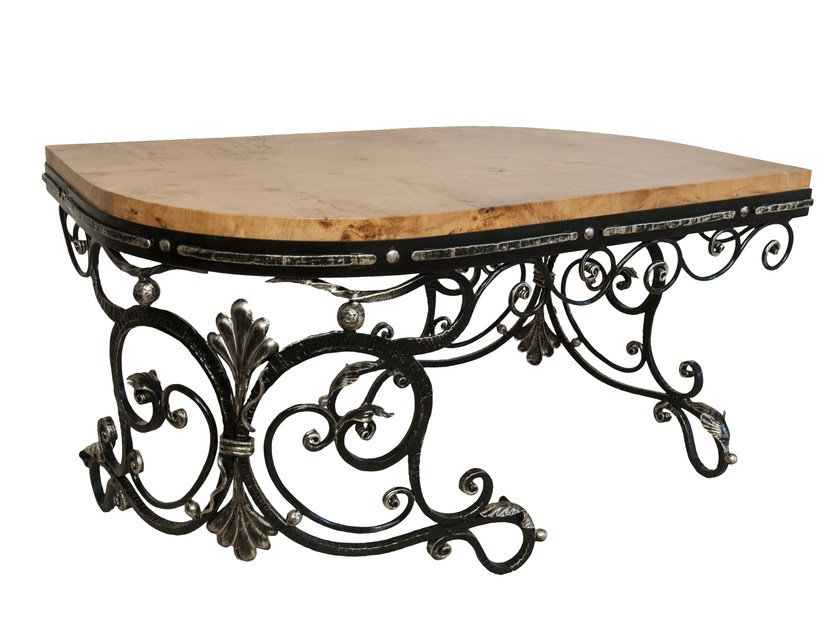 Low steel and wood coffee table Coffee table by ADELFI Luxury