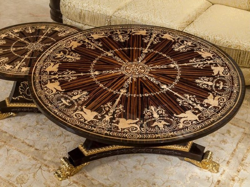 Round coffee table for living room Coffee table for living room by ANCA