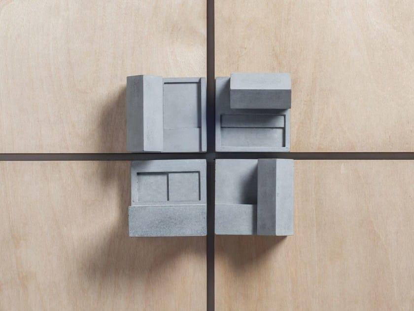 Concrete Furniture knob / architectural model Community #1 by mim studio