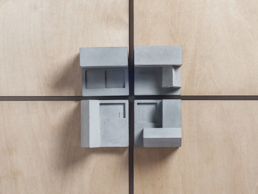 Concrete Furniture knob / architectural model Community #3 by mim studio