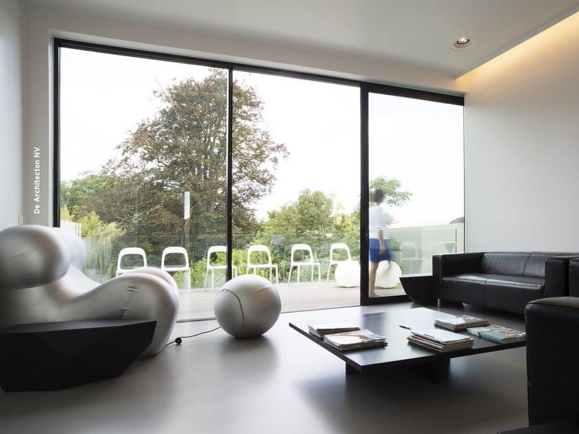 Porta-finestra a taglio termico scorrevole con doppio vetro Concept Patio 68 by Reynaers Aluminium
