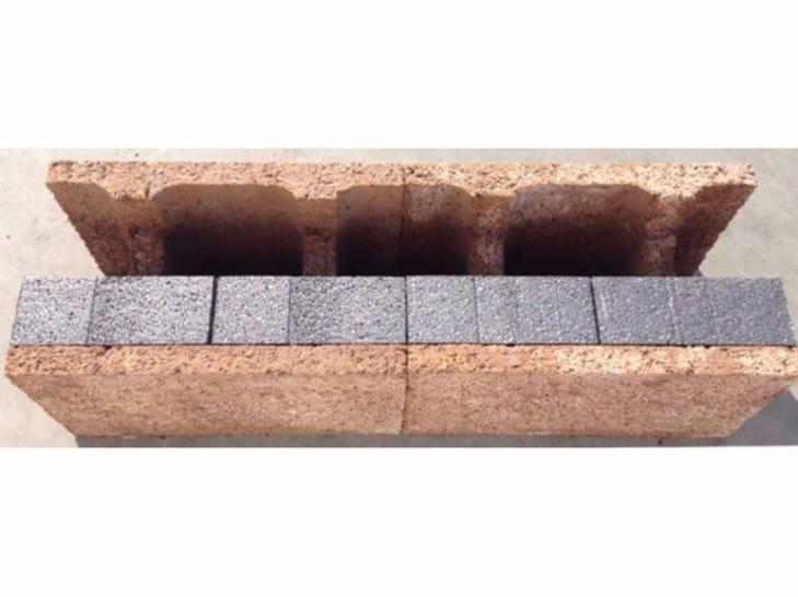Wood-concrete loadbearing block / Thermal wood-concrete block H block by ISOTEX