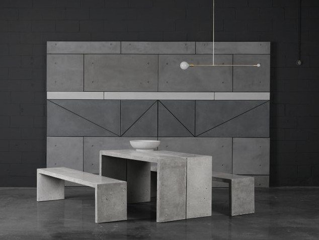 Concrete console table / table P | Table by AtelierB