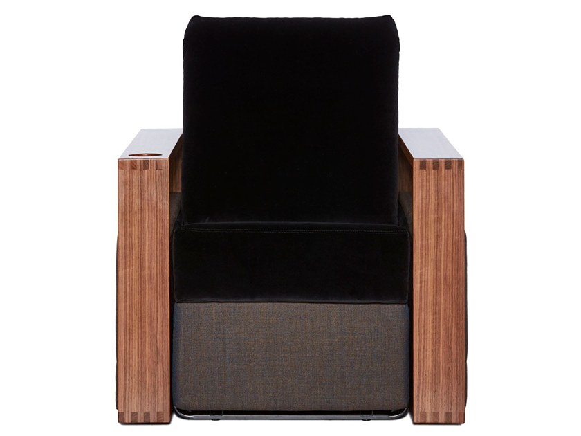 Massage fabric armchair with motorised functions COPENHAGEN by moovia