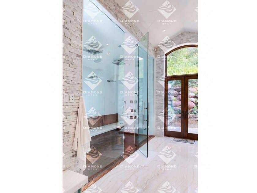Flush fitting rectangular copper shower tray Copper Shower Tray / Pan by Diamond Spas