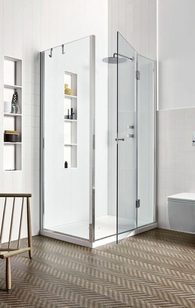 Chiusura doccia angolare - anta battente