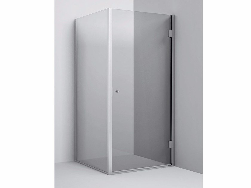 Corner Shower Enclosure with hinged door Corner Shower Enclosure - Hinged door by Rexa Design