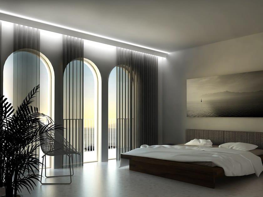 Profilo per illuminazione lineare da soffitto per moduli LED Cornice led per tenda by Eleni