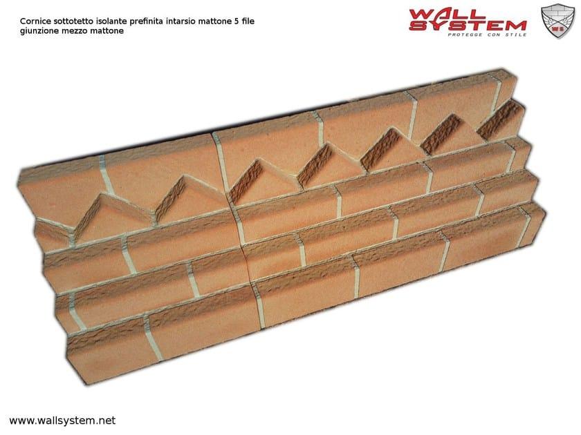 Cornice sottotetto mattoni faccia vista