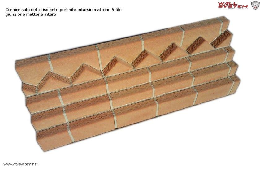 Elemento decorativo isolante per sistema a cappotto termico cornice sottotetto mattoni faccia - Cucina in mattoni faccia vista ...