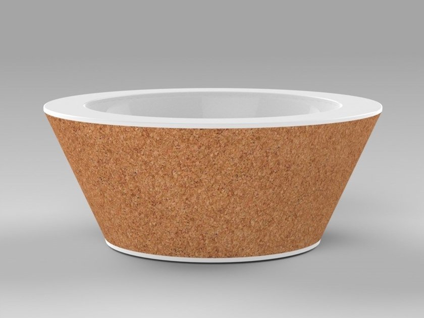 Countertop round single Corian® washbasin SUBER | Countertop washbasin by AMA Design