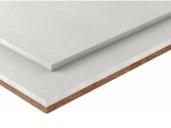 Impact insulation system Coupled board with wood fiber by Fermacell