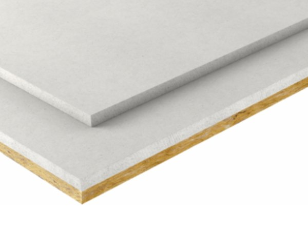 Gypsum plasterboard for partition walls Coupled boards with mineral wool by Fermacell