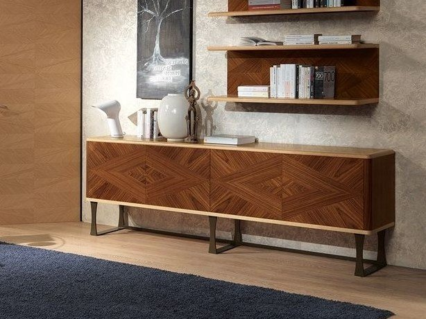 Wooden sideboard with doors DESYO | Sideboard by Carpanelli Contemporary