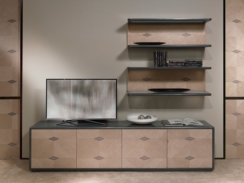 Wooden sideboard with doors DESYO LUX | Sideboard by Carpanelli Contemporary