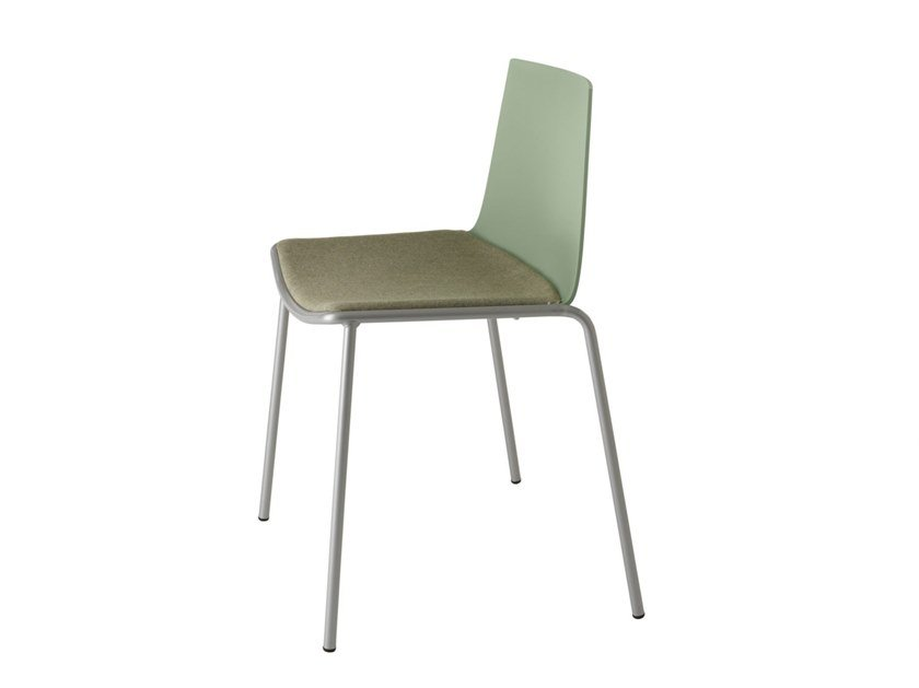 Polypropylene chair with integrated cushion CUBA 620N by Metalmobil