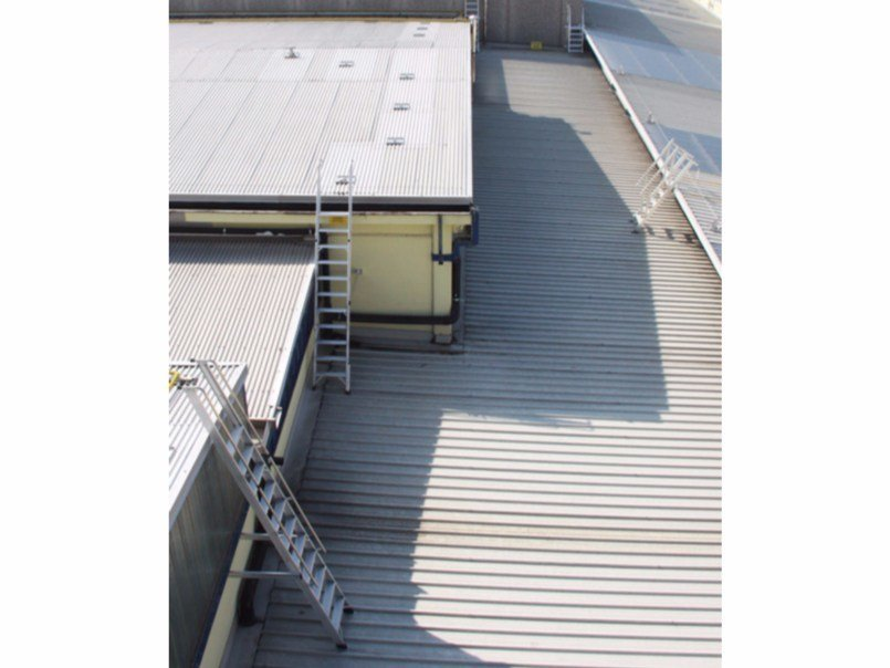 Metal fire escape staircase Customized stairs for roofs by SVELT