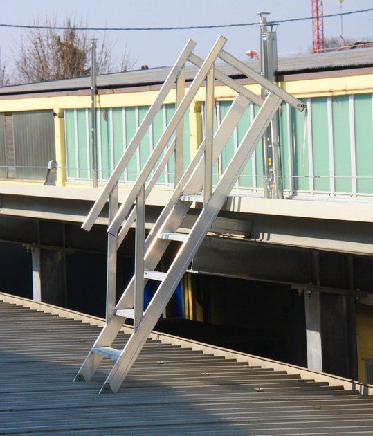 Scale di passaggio tra tetti