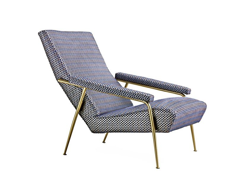 Fabric armchair D.153.1 by Molteni & C.