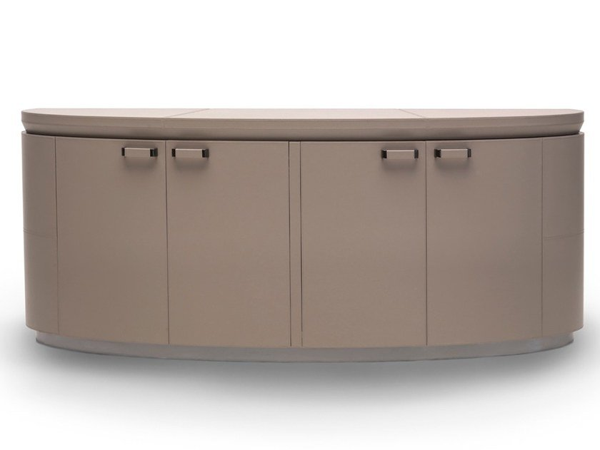 Leather sideboard with doors D 1636 | Sideboard by Annibale Colombo