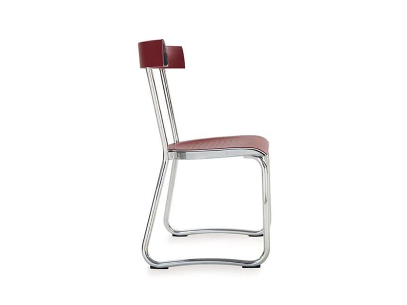 Sedia a slitta in alluminio D.235.2 by Molteni & C.