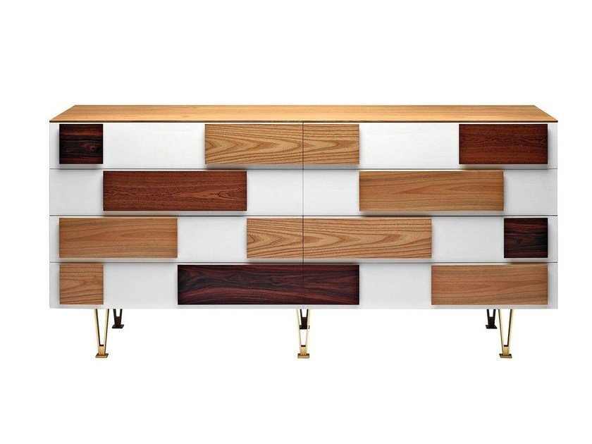 Wooden chest of drawers D.655.1 | Chest of drawers by Molteni