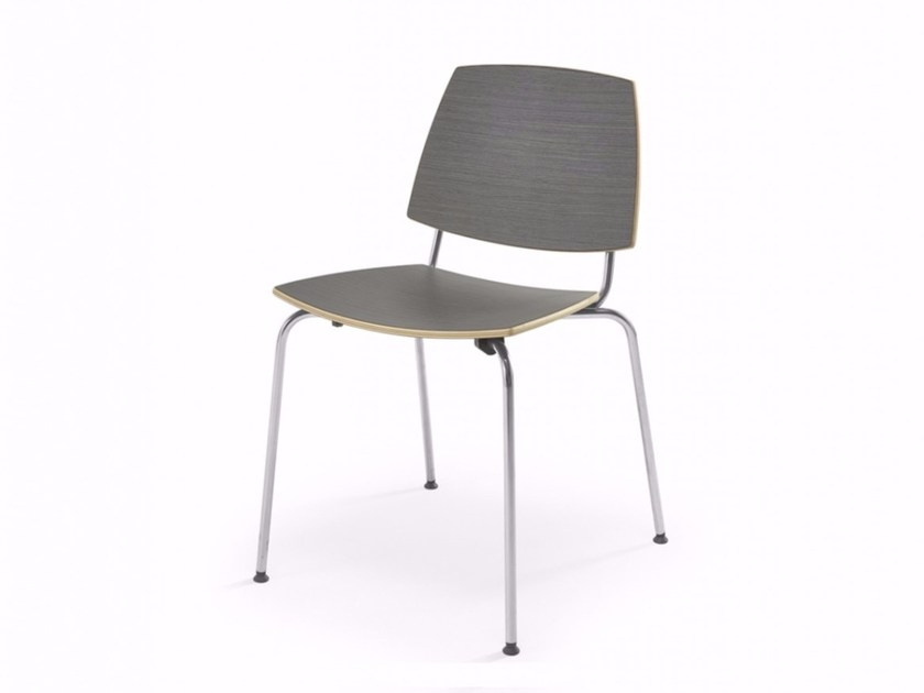 Stackable reception chair D'AVEIRO by Adico