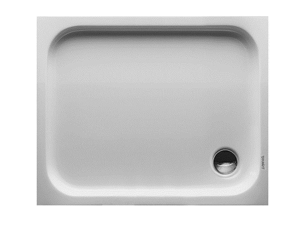 Rectangular acrylic shower tray D-CODE | 100 x 80 by Duravit