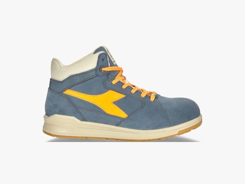 rivenditore online autorizzazione scarpe da ginnastica a buon mercato D-JUMP HI S3 SRC ESD BLU DENIM/ARANCIONE By DIADORA ...