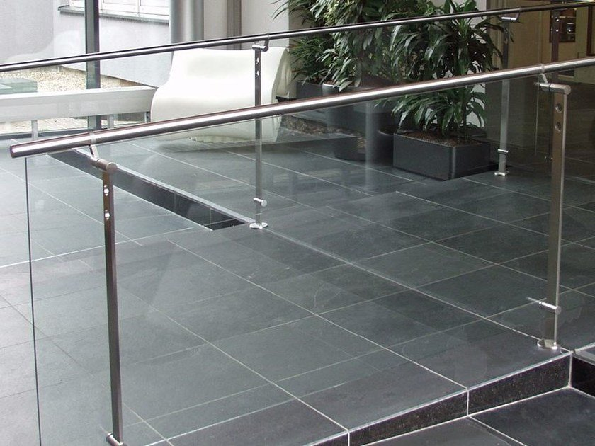 Glass And Stainless Steel Balustrade D Line Spigot Fixing By Q