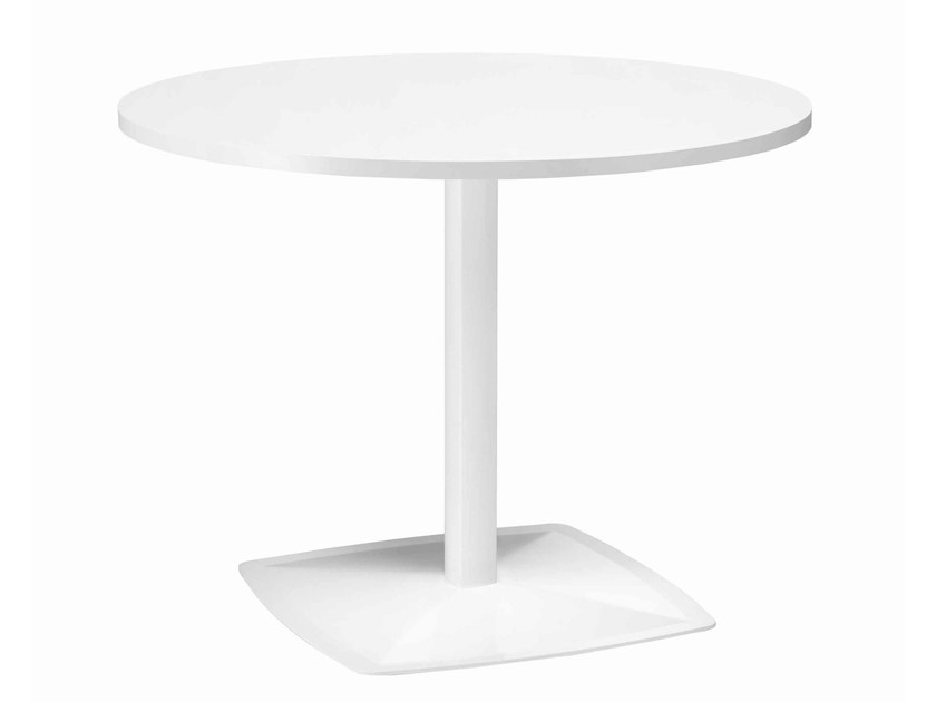 Round metal table Ax 512 by Metalmobil