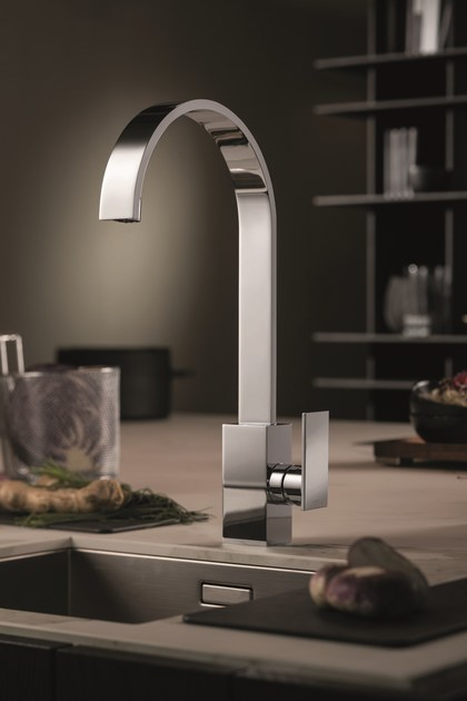 Countertop kitchen mixer tap with swivel spout D-RECT KITCHEN | Kitchen mixer tap by newform