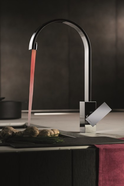 Countertop kitchen mixer tap with swivel spout D-RECT KITCHEN   Kitchen mixer tap with swivel spout by newform