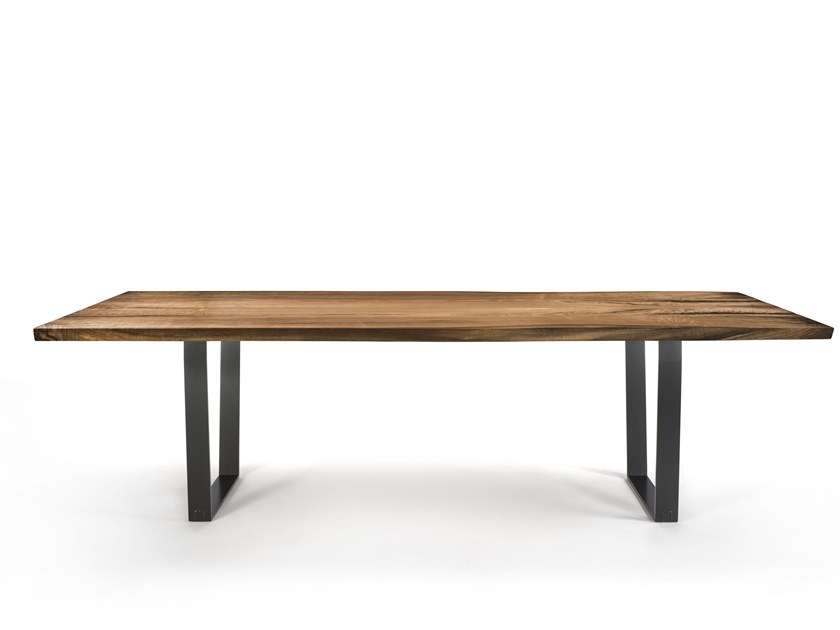 Rectangular solid wood table D.T. PLANK TABLE by Riva 1920
