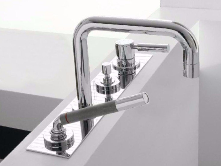 4 hole bathtub set with hand shower DA-DA | 4 hole bathtub set by ZAZZERI