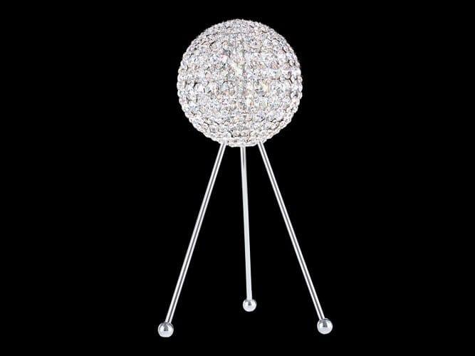 Halogen floor lamp with Swarovski® crystals DA VINCI™ | Floor lamp by Schonbek