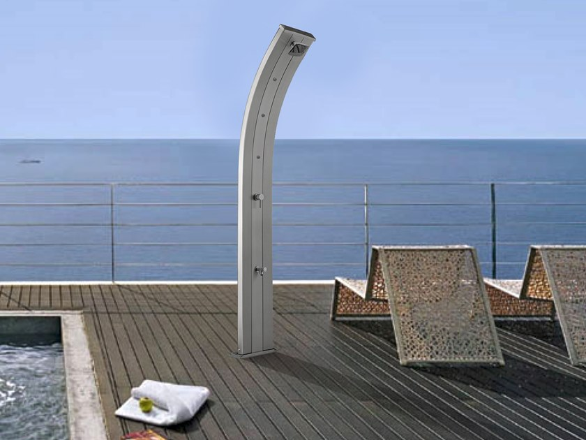 Aluminium outdoor shower DADA HYBRIDA by ARKEMA DESIGN