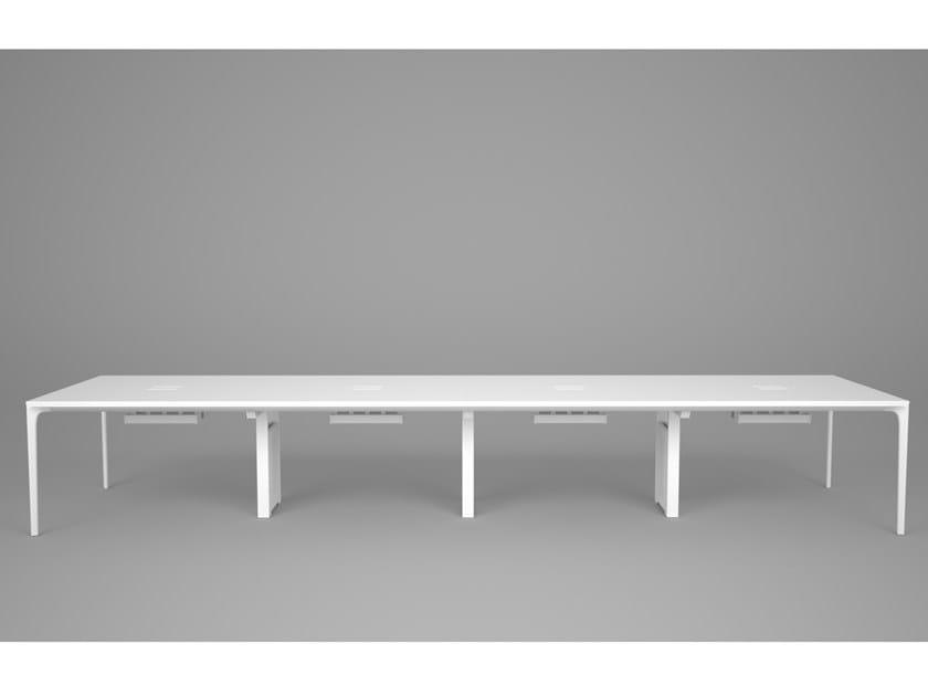 Rectangular workstation desk with cable management DADA | Office desk by Grado Design