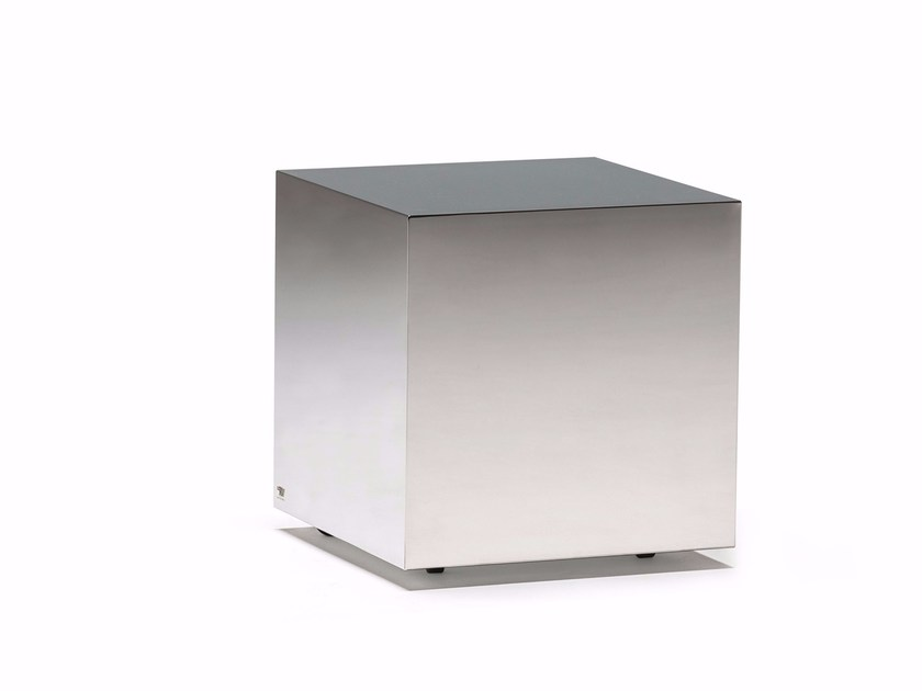 Stainless steel pouf / coffee table DADOX by Cattelan Italia