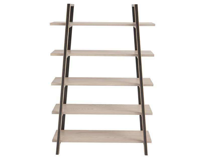 Open freestanding ash shelving unit DAHLIA | Bookcase by Italcollections
