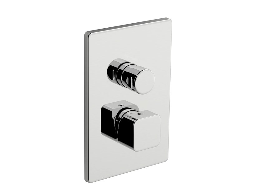 2 hole shower mixer with plate DAILY CUBE 45 - 4550178 by Fir Italia