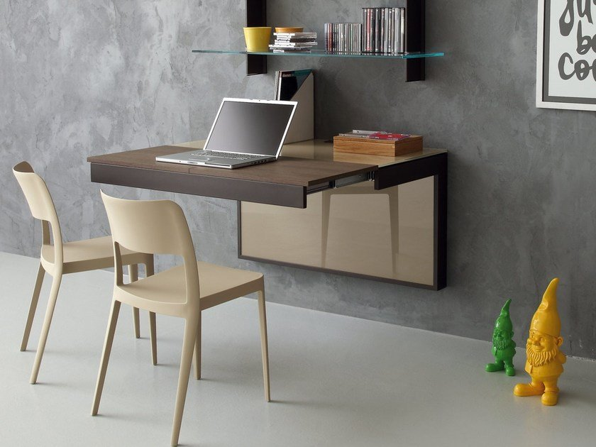 Wall mounted secretary desk with drawers CLEVER by IDEAS Group