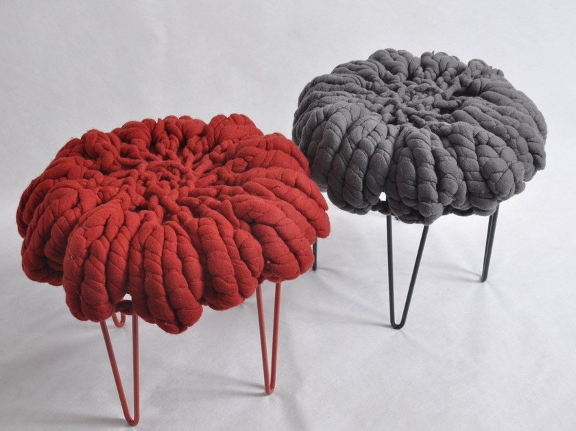 Wool felt stool DAISY | Wool felt stool by Ronel Jordaan™