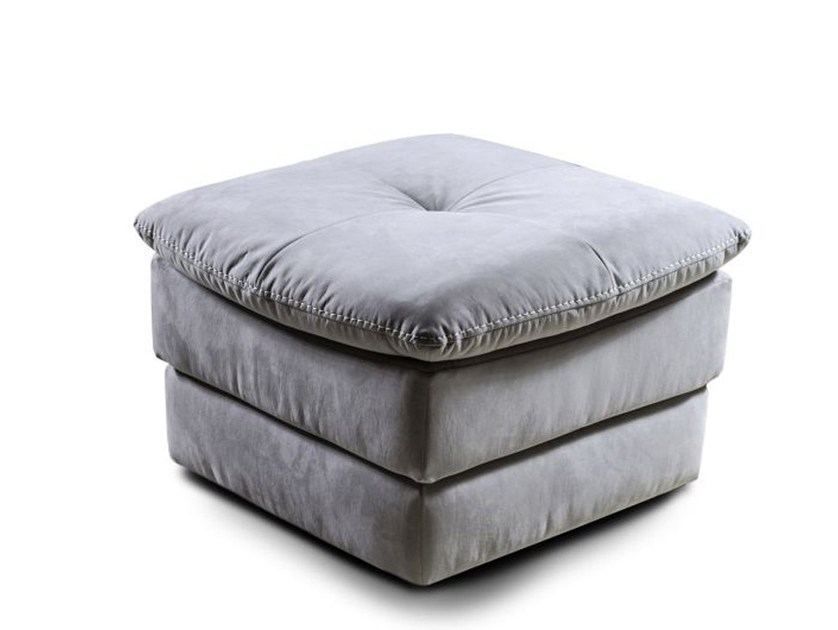 Upholstered square Nabuk pouf DAKOTA | Pouf by Nieri