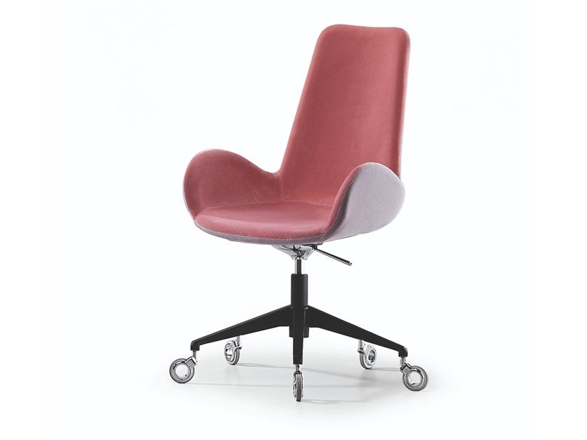 Height-adjustable swivel fabric task chair with 5-Spoke base DALIA PA D by Midj