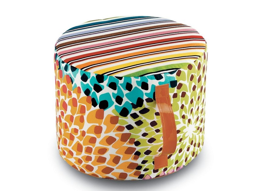 Pouf with removable lining DALIA RAINBOW | Pouf by MissoniHome